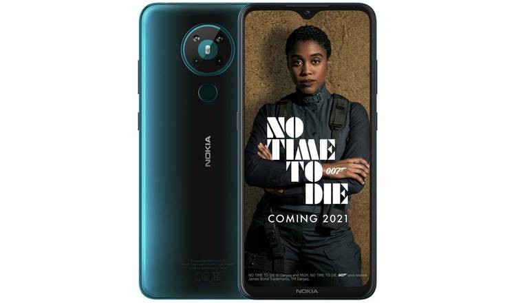 SIM Free Nokia 5.3 64GB Mobile Phone - Cyan