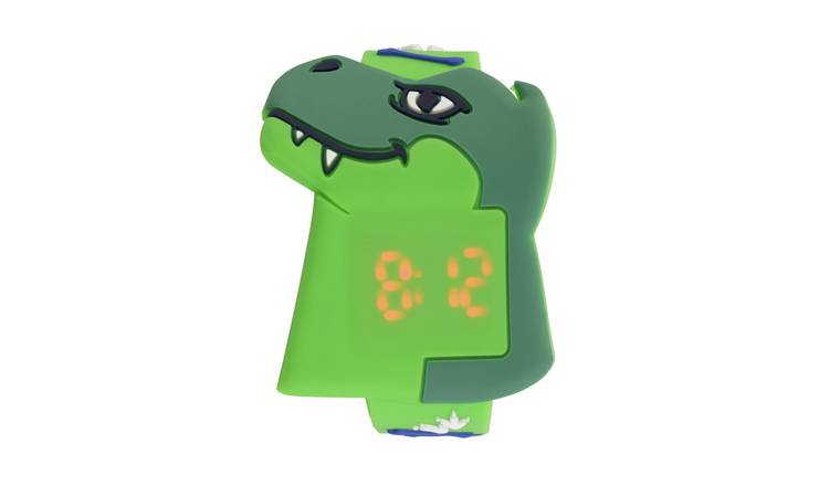 Tikkers Kid's Dino Green Plastic Strap Watch