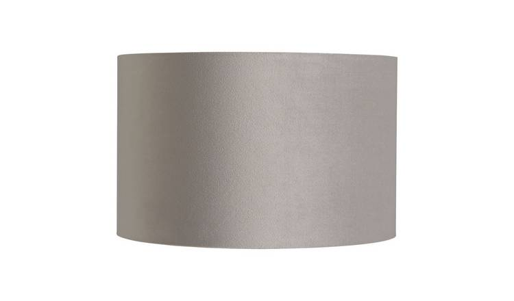 Habitat French Velvet 25cm Shade - Grey