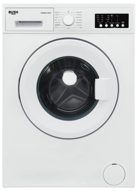 Bush WMSAE712EW 7KG 1200 Spin Washing Machine - White