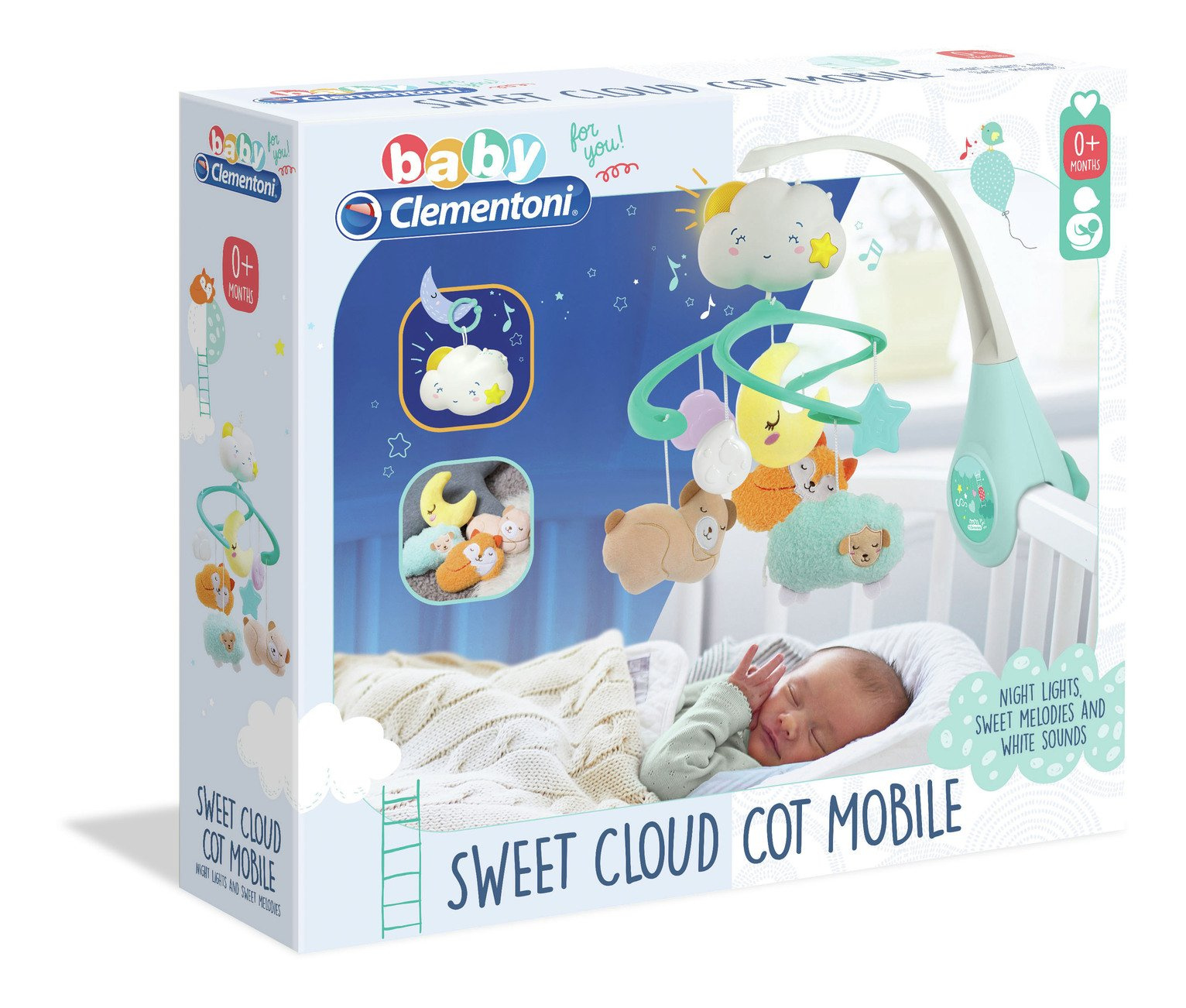 Baby Clementoni Sweet Cloud Cot Mobile