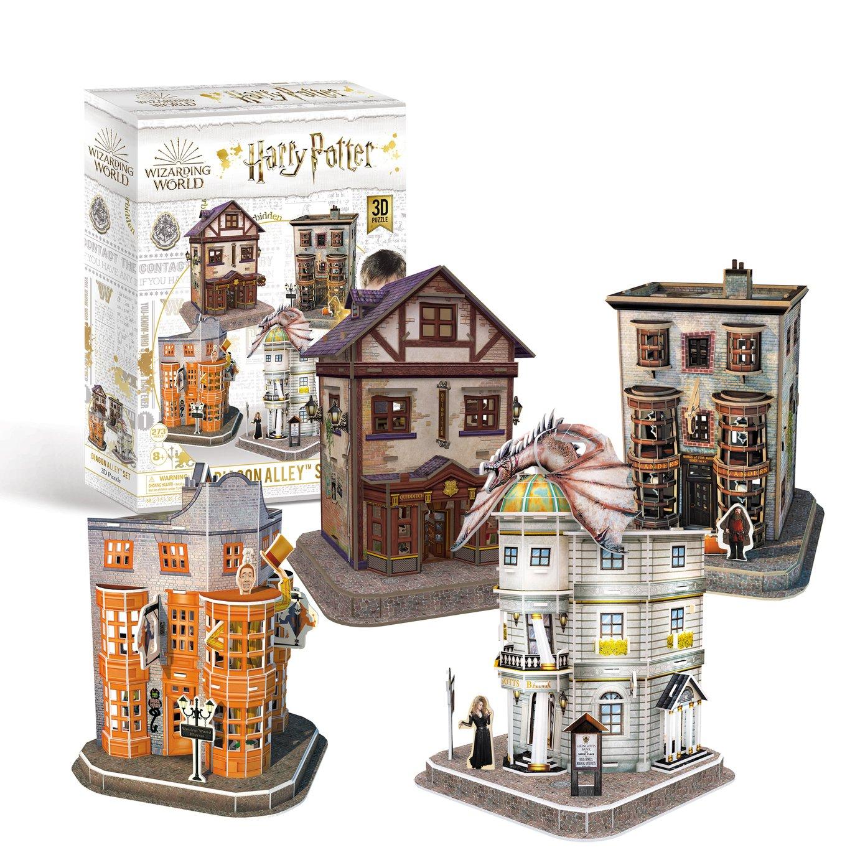 Harry Potter Diagon Alley 4-in-1 3D Puzzle Set