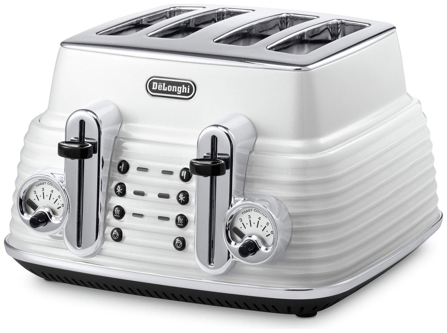 DeLonghi Scultura 4 Slice Toaster - White