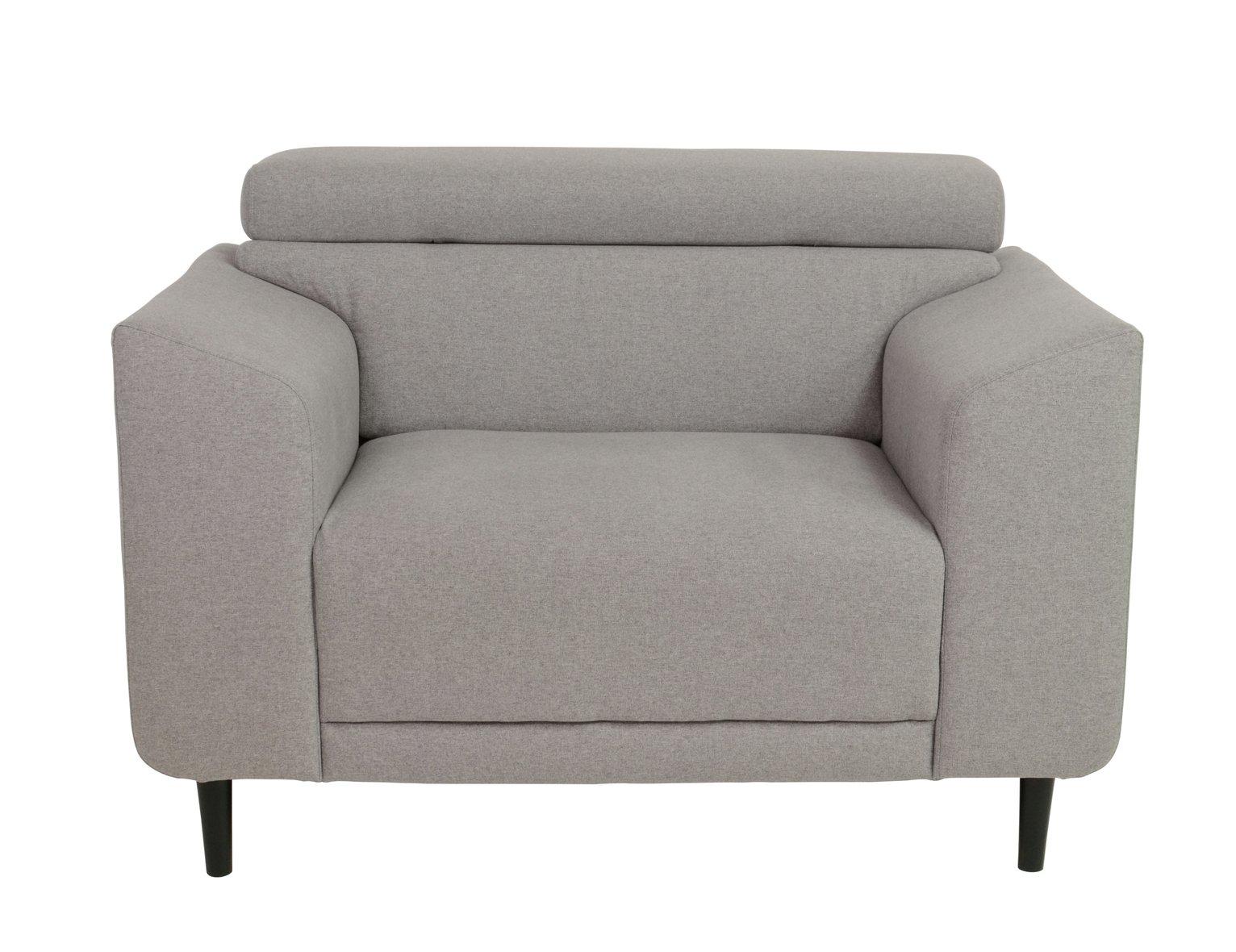 Argos Home Jonas Fabric Armchair - Light Grey
