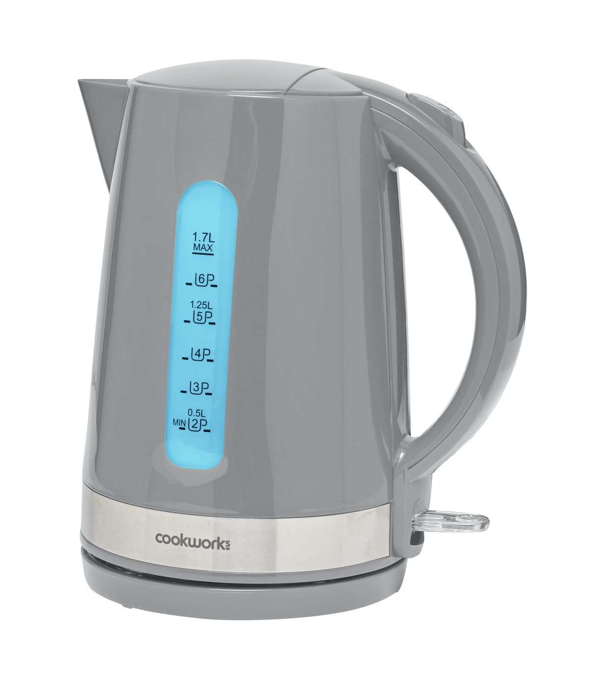 Cookworks Plastic Illuminated Kettle - Grey