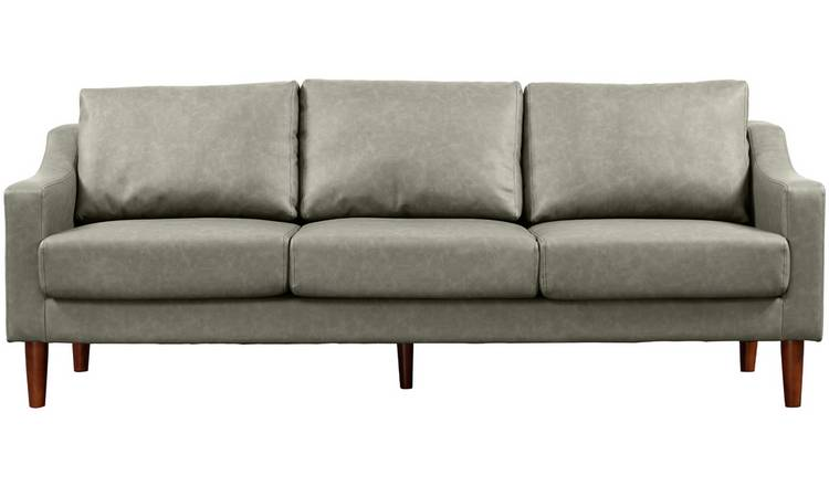 Groovy Buy Argos Home Brixton 3 Seater Faux Leather Sofa Grey Sofas Argos Onthecornerstone Fun Painted Chair Ideas Images Onthecornerstoneorg
