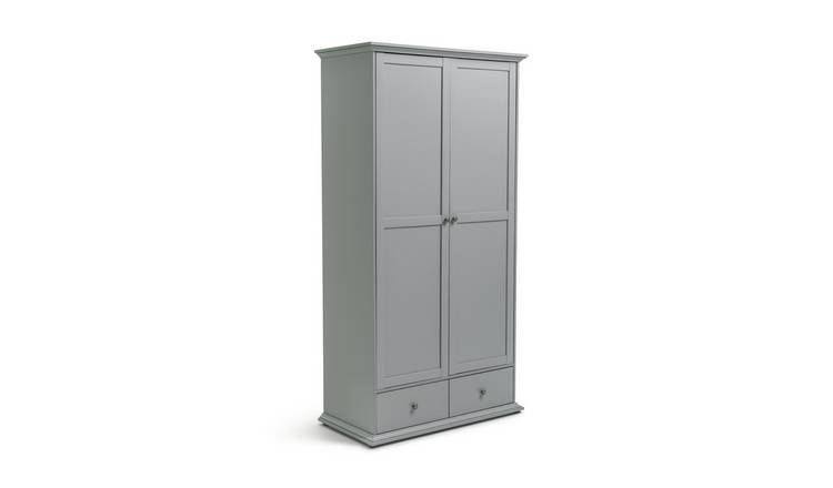 Habitat Heathland 2 Door 2 Drawer Wardrobe - Grey