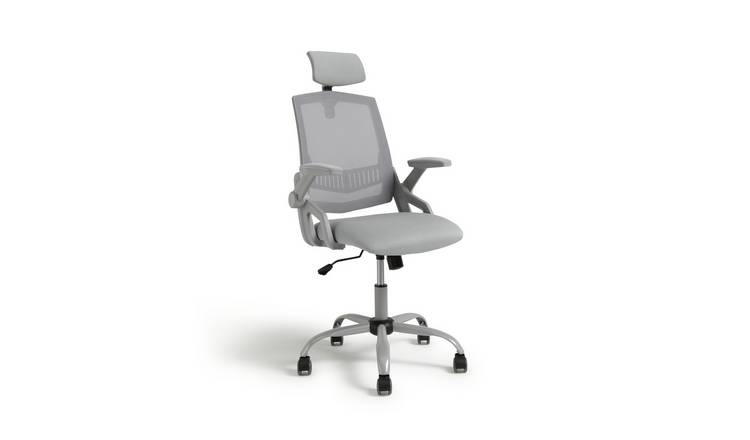 Argos Home Milton Mesh Ergonomic Office Chair - Grey