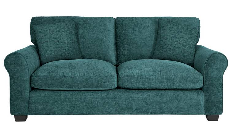 Argos Home Tammy 3 Seater Fabric Sofa - Teal