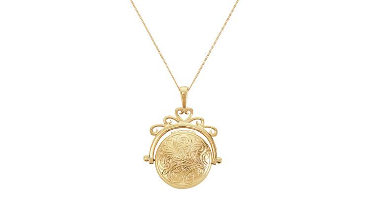 Moon & Back 9ct Gold Round Spinner Locket