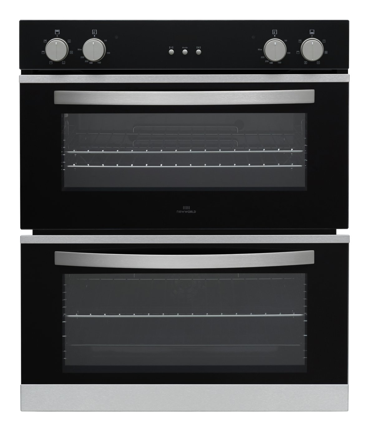 New World NWCMBUOB Built Under Double Electric Oven - Black