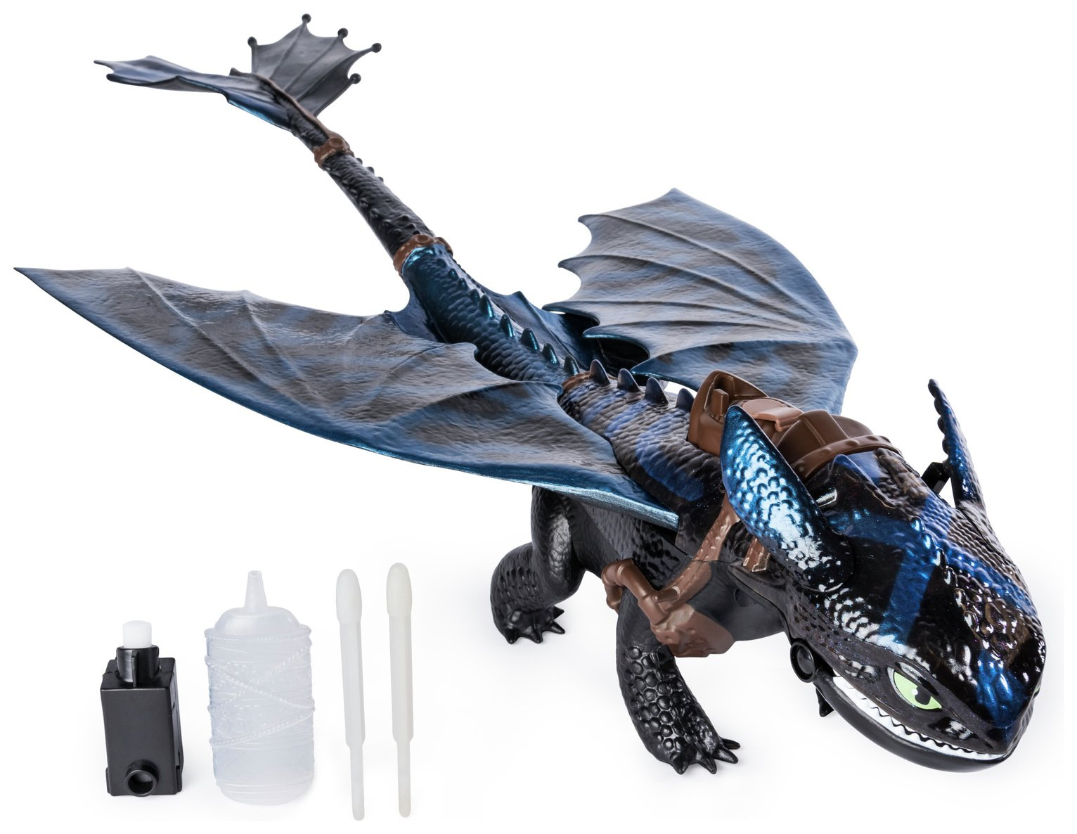 HOW TO TRAIN YOUR DRAGON Hidden World Lightup Playset Toothless Mini Figure.