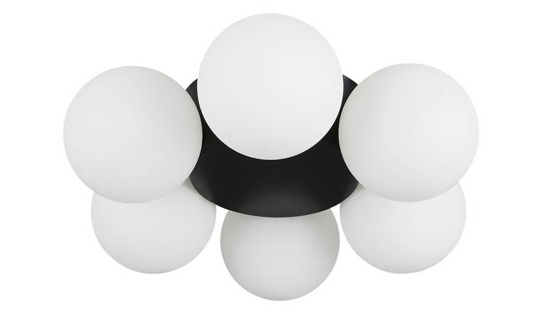 Habitat Ari 6 Light Ceiling Light - Black