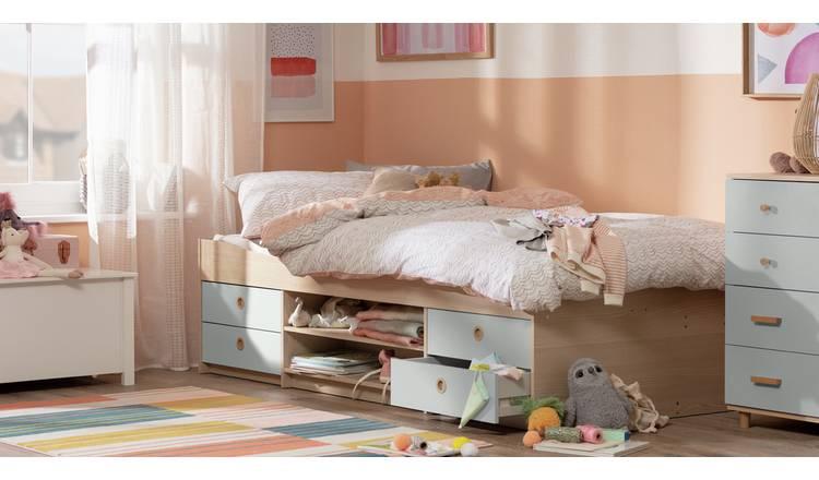 Buy Argos Home Camden Cabin Bed Frame - Grey and Acacia ...