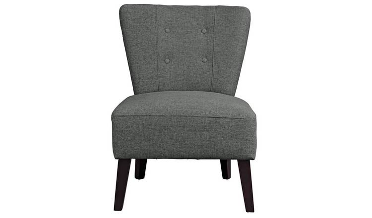Habitat Delilah Fabric Cocktail Chair - Charcoal