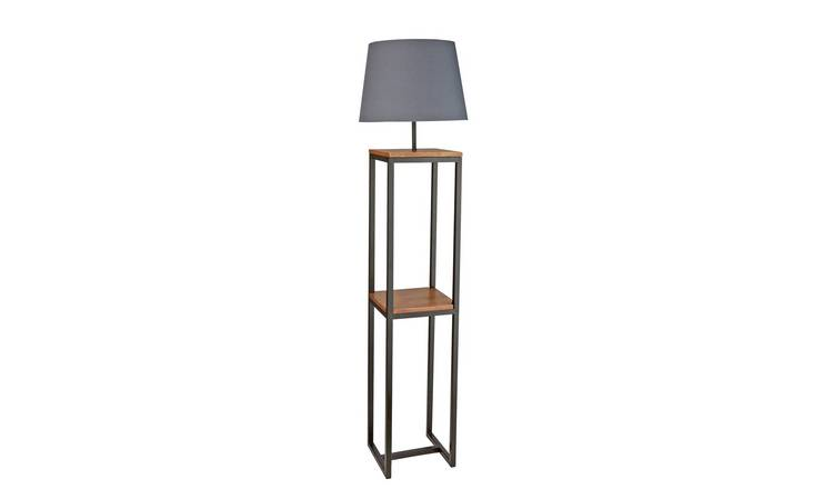 Buy Argos Home Nomad Shelf Floor Lamp Black   Floor lamps   Argos