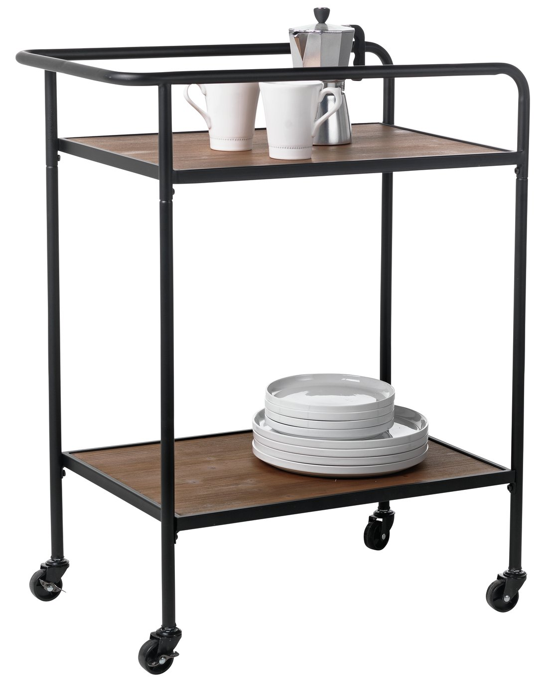 Argos Home Metal and Wood Tea Trolley