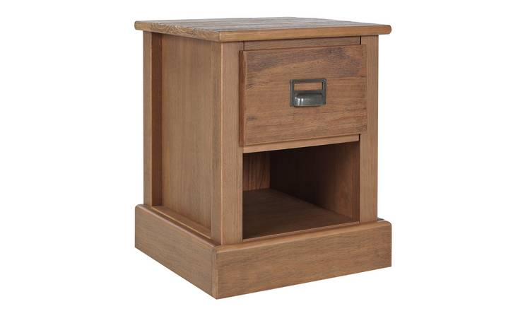 Argos Home Drury 1 Drawer Bedside Table - Pine