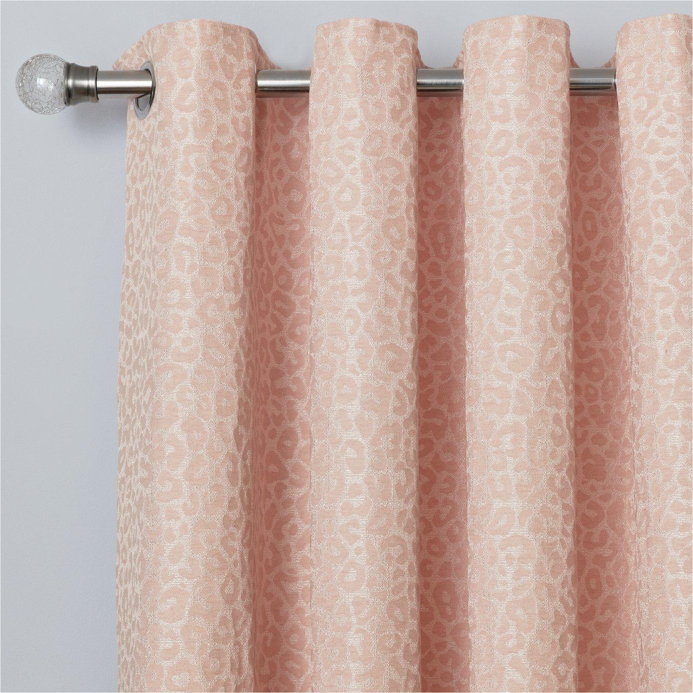Argos Home Jacquard Lined Eyelet Curtains - Blush Pink