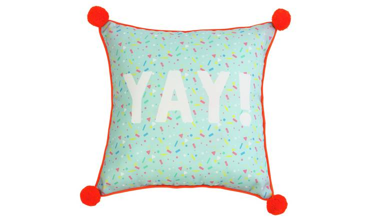 Buy Argos Home Miami Pom Pom Yay Outdoor Cushion Cushions Argos