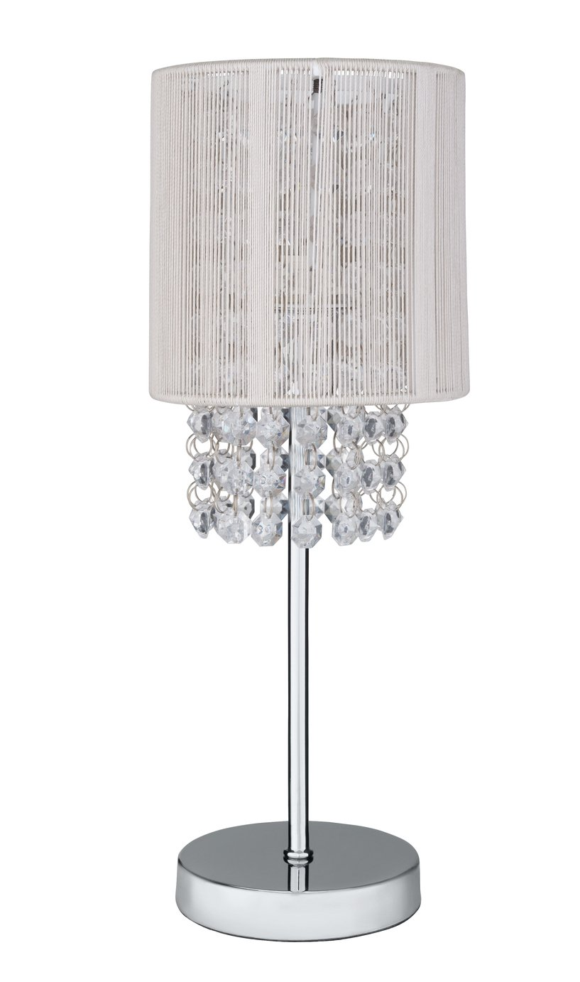 Argos Home Siena Bedside Table Lamp - Chrome