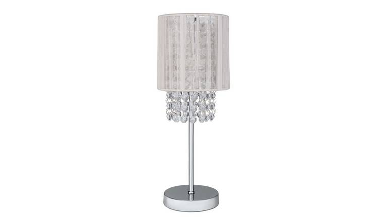 new style 16a7a dd8a9 Buy Argos Home Siena Bedside Table Lamp - Chrome | Table lamps | Argos