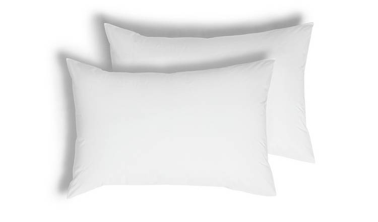 Argos Home Cotton Tencel Standard Pillowcase Pair - White