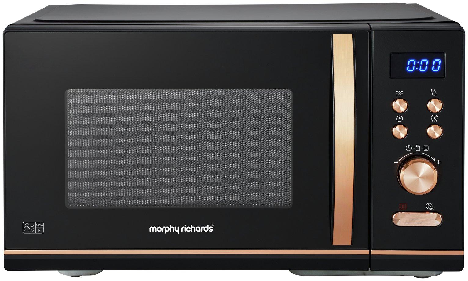 Morphy Richards 900W Standard Microwave - Rose Gold