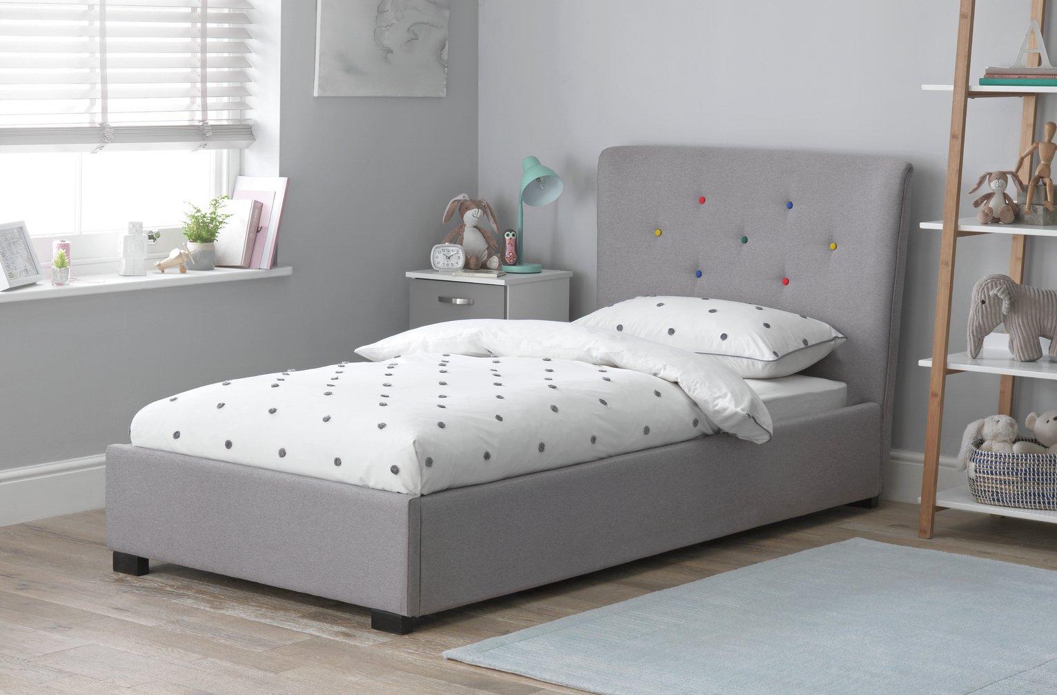 Argos Home Benjamin Bed and Silentnight Mattress - Grey