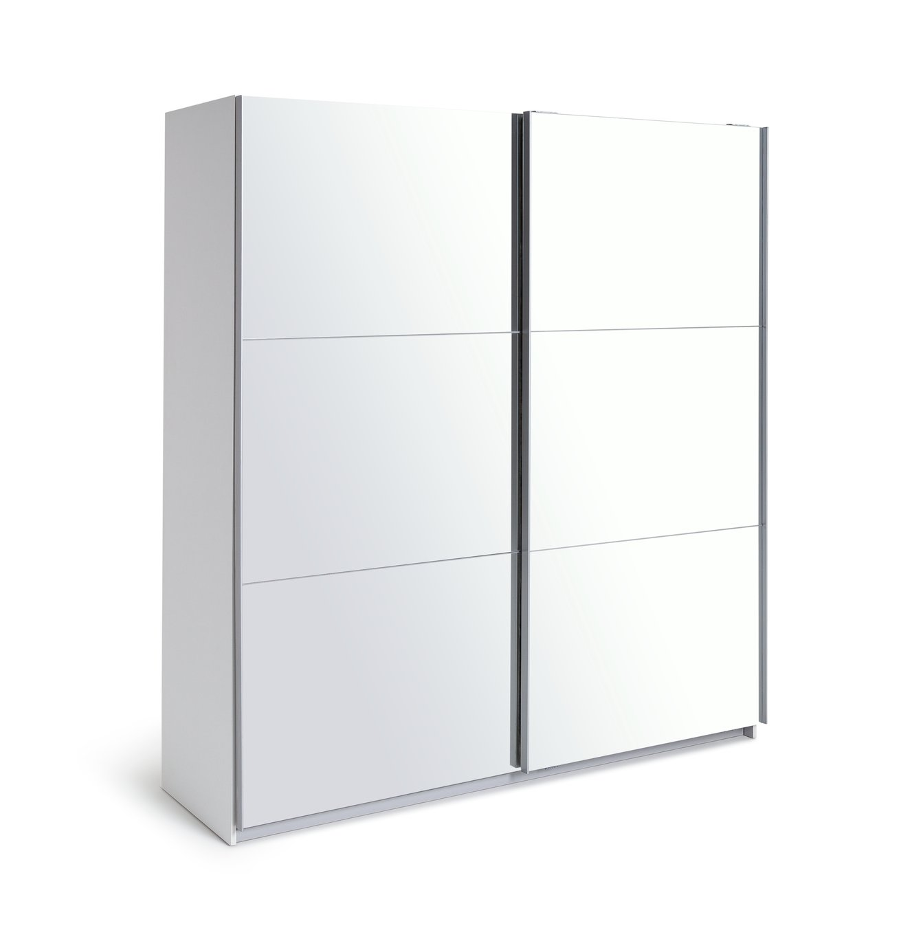 Argos Home Holsted Mirrored Large Sliding Wardrobe - White