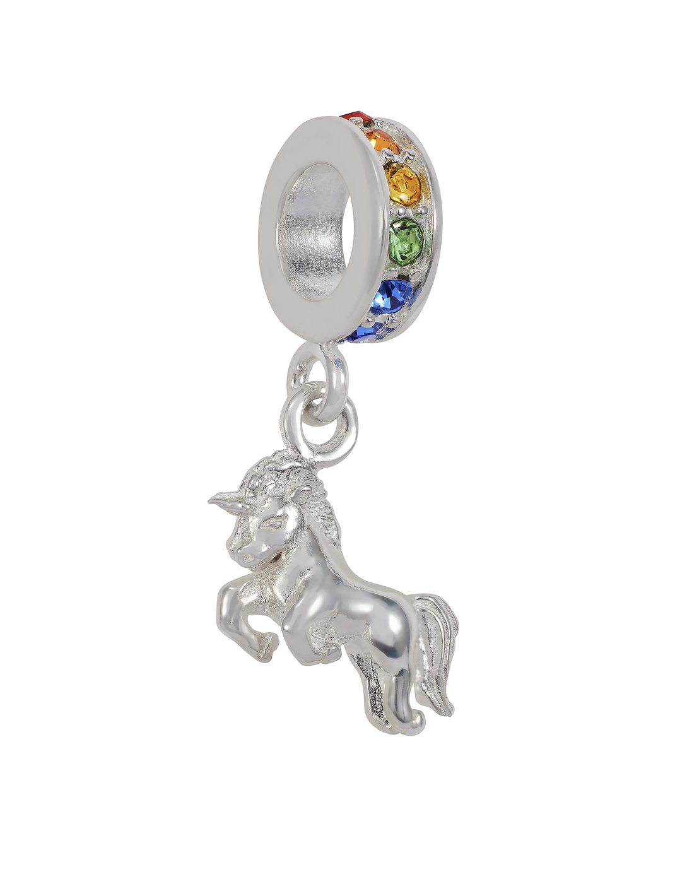 Moon & Back Sterling Silver Unicorn Drop Charm