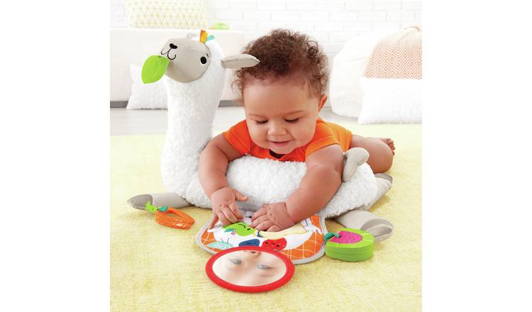 Fisher-Price Grow-with-Me Tummy Time Llama Baby Gym