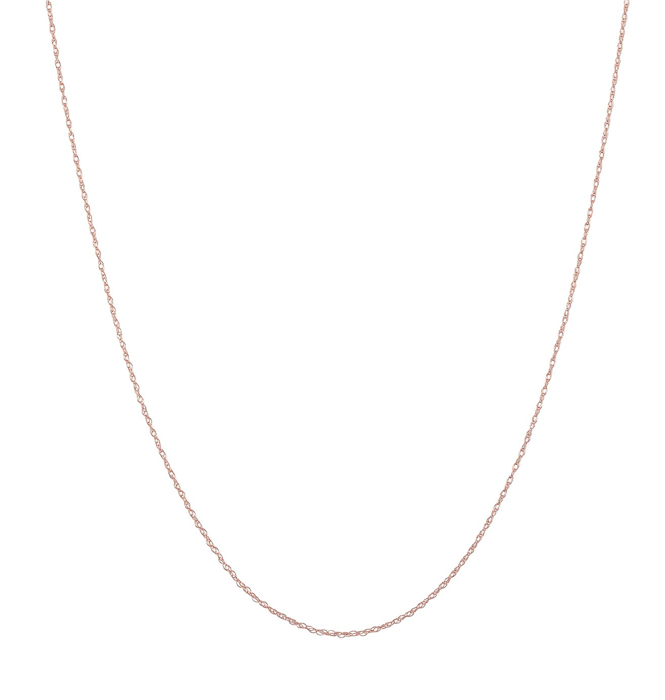Revere 9ct Rose Gold Prince of Wales Pendant 20inch Necklace