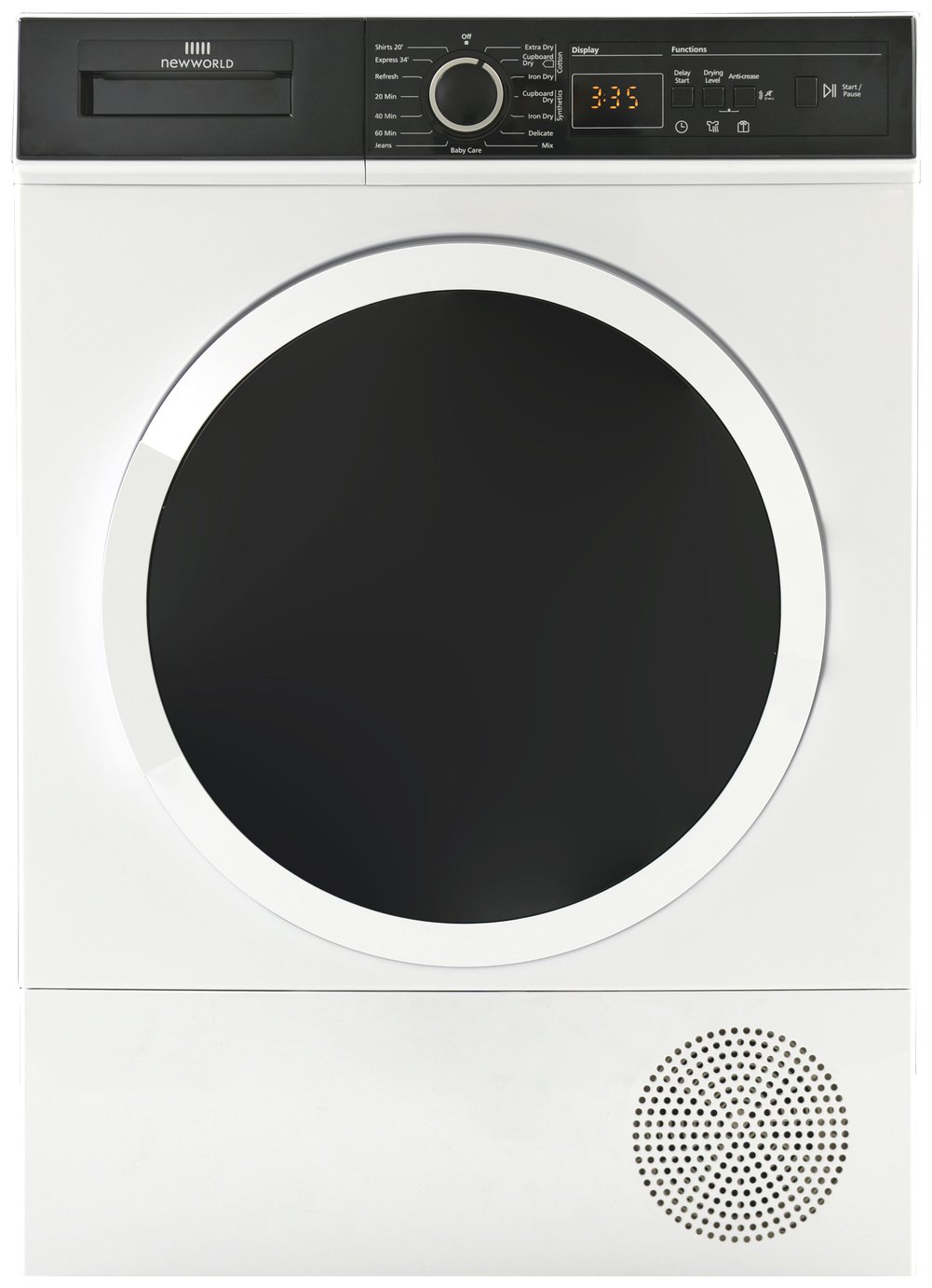 New World NWCGTD8HP 8KG Heat Pump Tumble Dryer - White