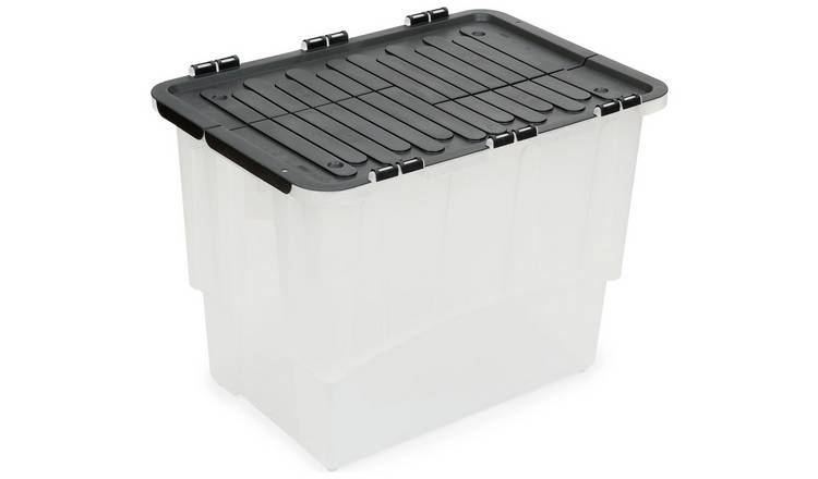 Strata 60 Litre Crocodile Lid Plastic Storage Boxes Set of 4