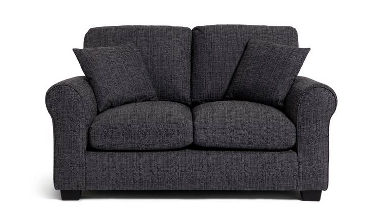 Habitat Lisbon 2 Seater Fabric Sofa - Charcoal