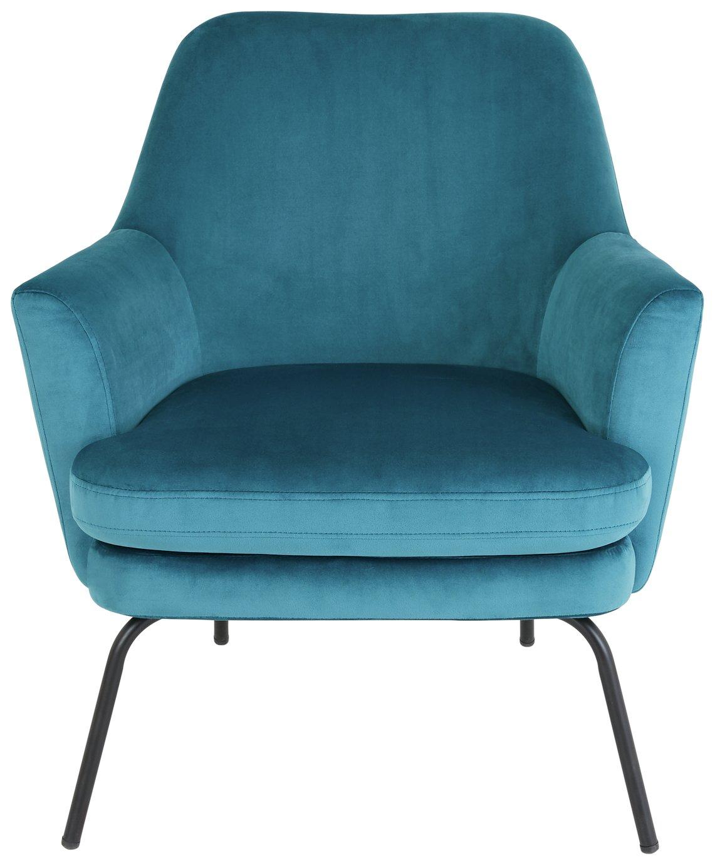 Habitat Celine Velvet Accent Chair - Teal