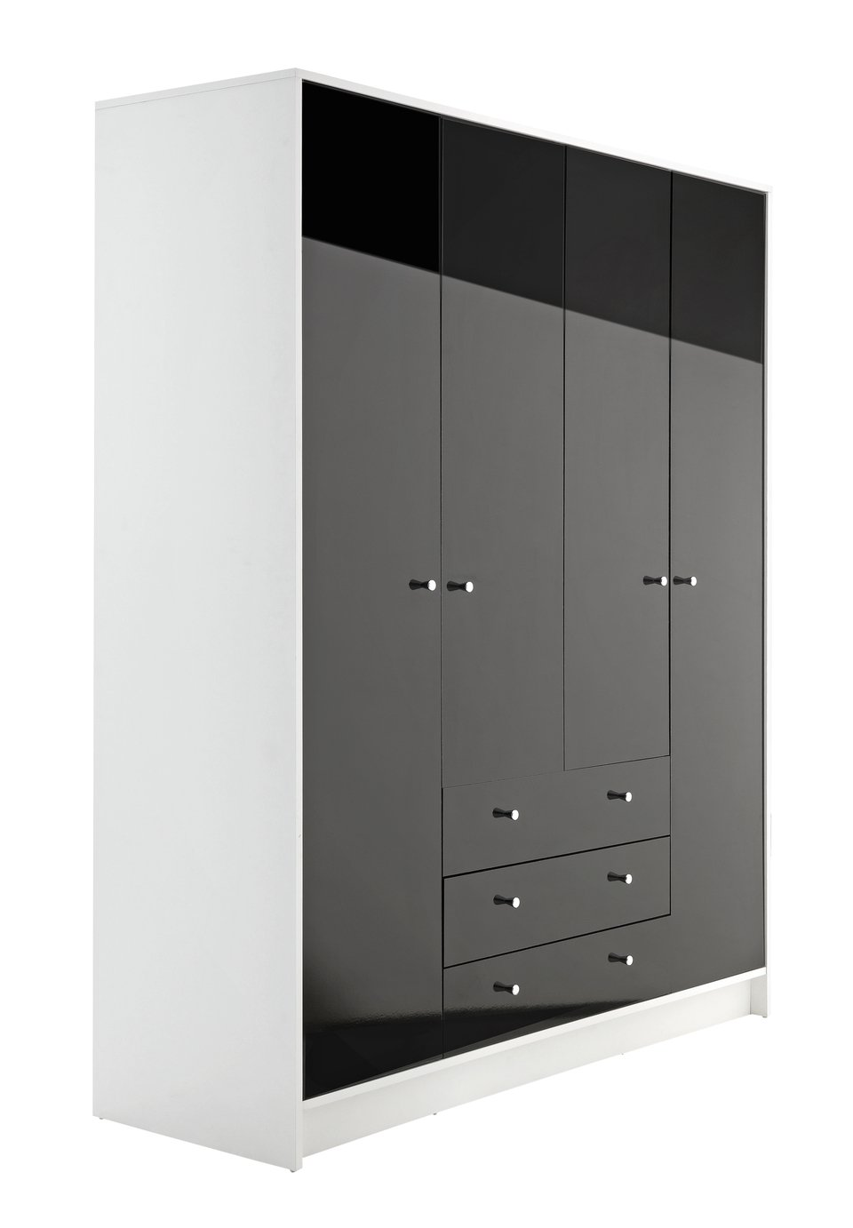Argos Home Malibu 4 Door 3 Drawer Wardrobe