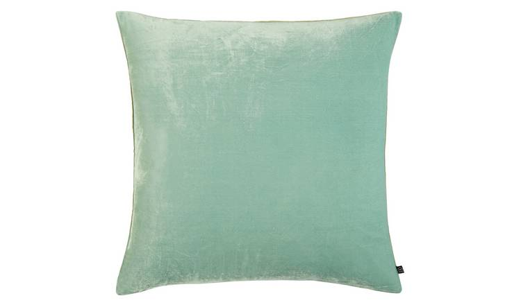 Habitat Regency 45 x 45cm Velvet Cushion - Light Blue