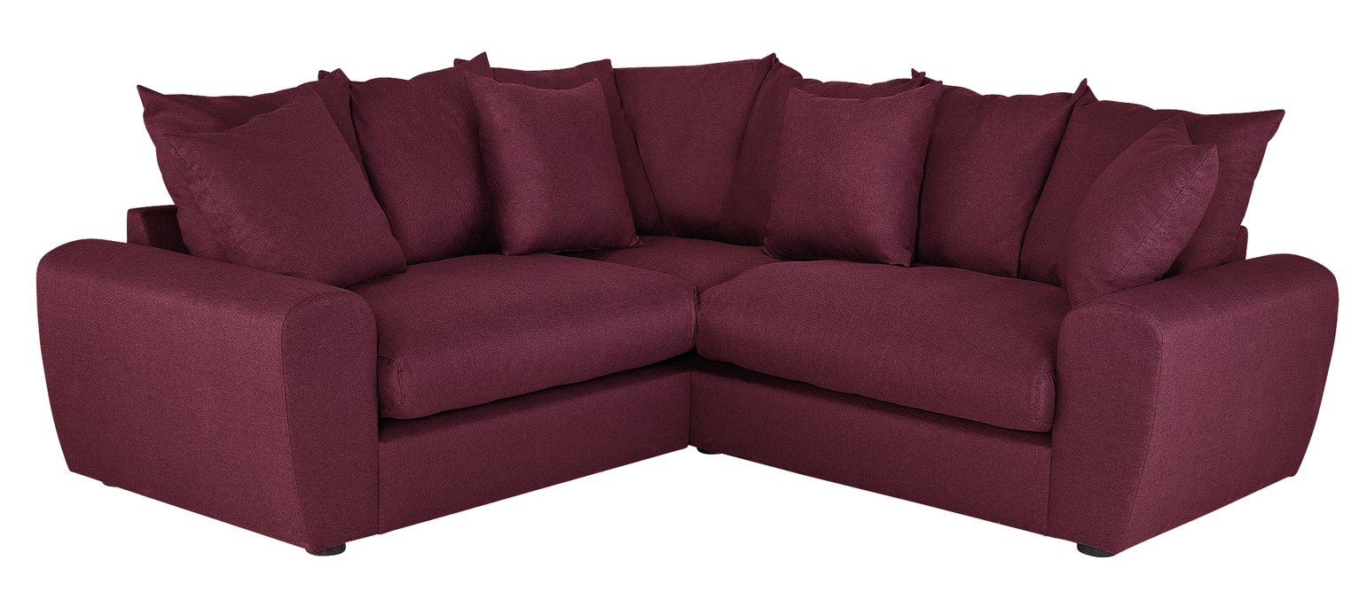 Argos Home Billow Corner Fabric Sofa - Red