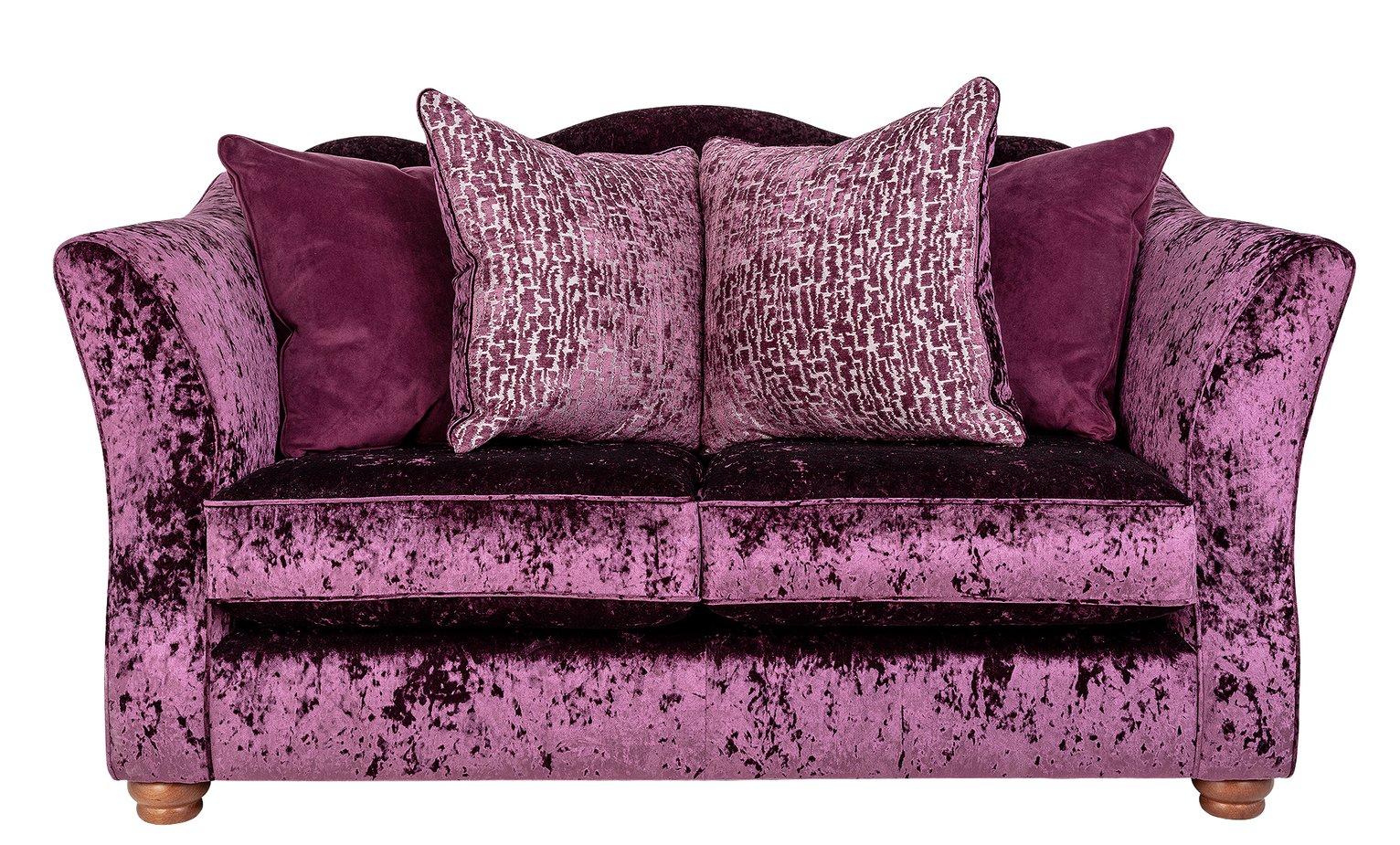 Argos Home Fantasia 2 Seater Velvet Sofa - Purple