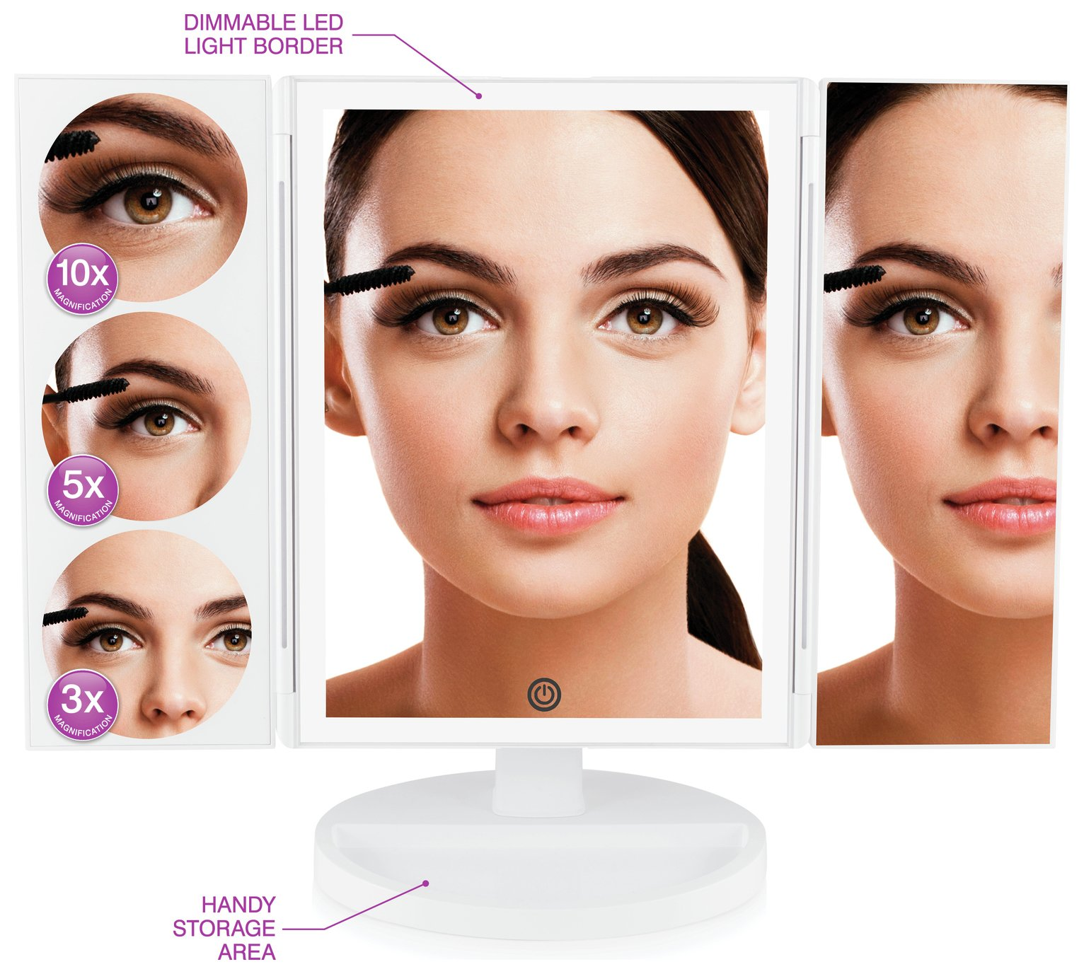 Rio LED Magnification Make-up Mirror