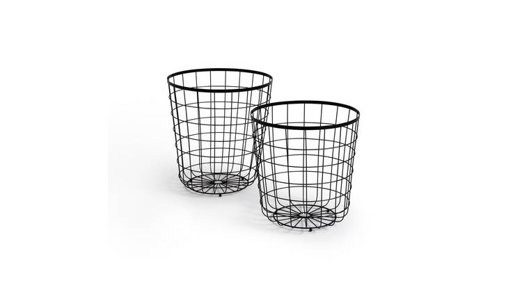 Habitat Mid Century Wire Baskets - Grey