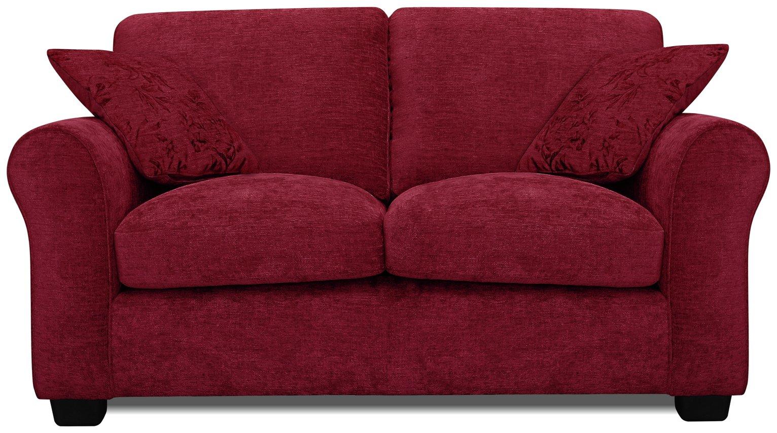 Argos Home Tammy 2 Seater Fabric Sofa - Wine