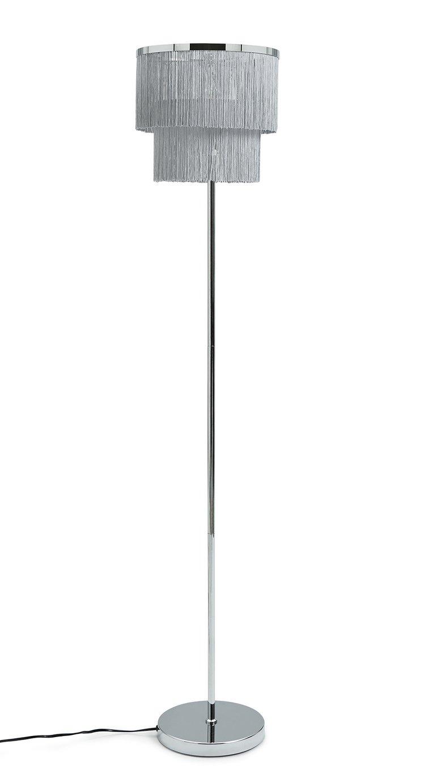 Habitat Fringe Floor Lamp - Grey