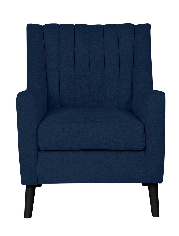 Argos Home Heidi Mid Centrury Velvet Armchair - Velvet Blue