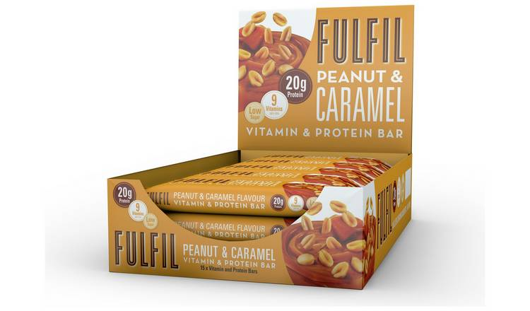 Fulfil Peanut and Caramel Protein and Vitamin Bars 15 x 55g
