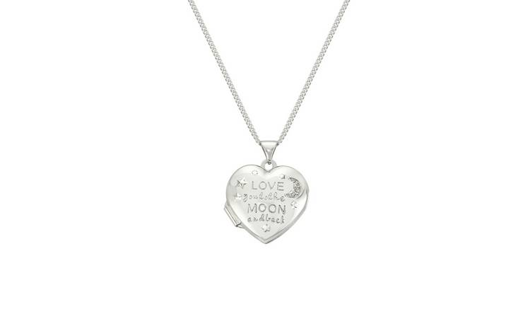 Moon & Back 'Love you to the Moon and Back' Heart Locket