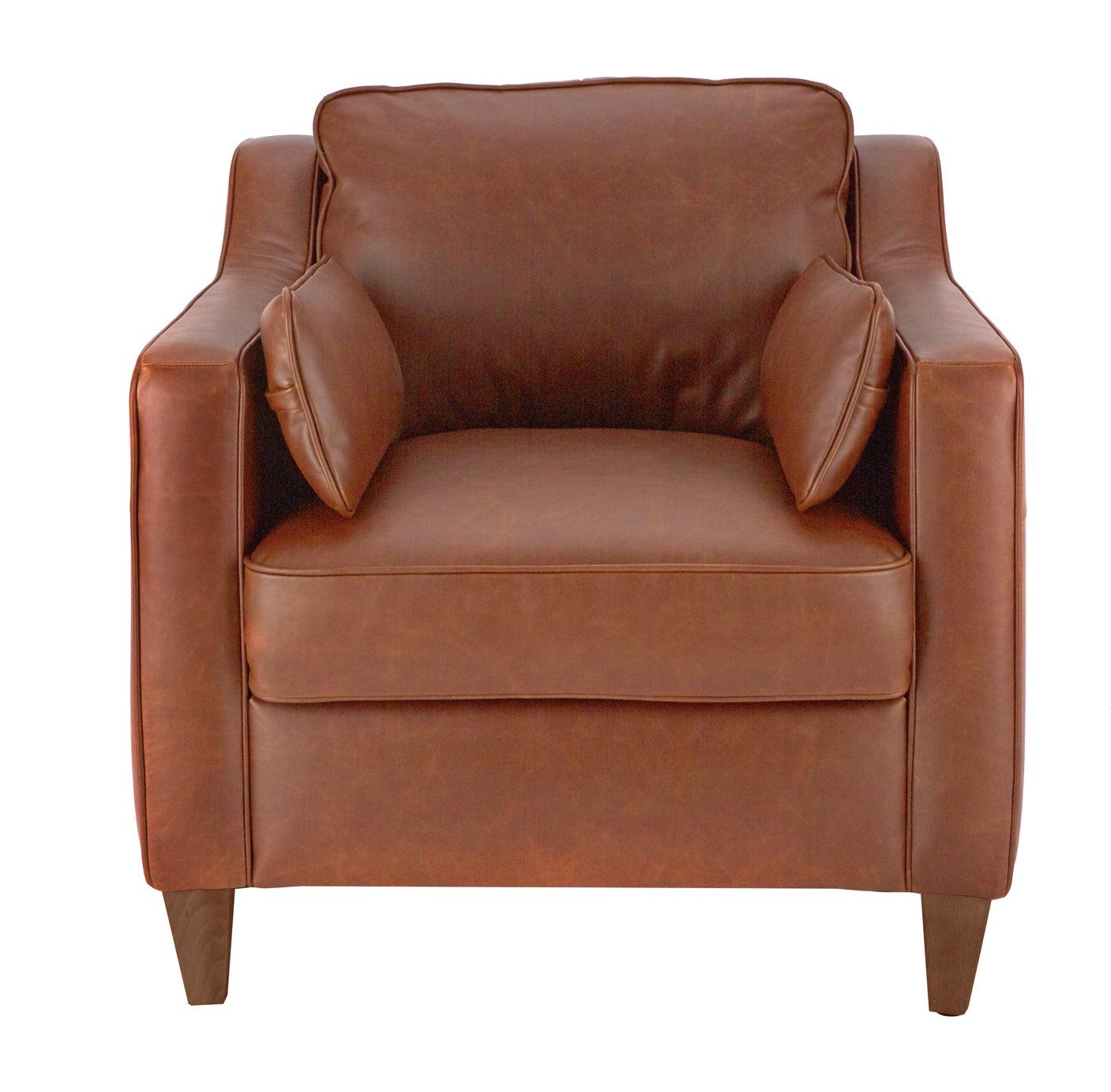 Argos Home Drury Lane Leather Armchair - Tan