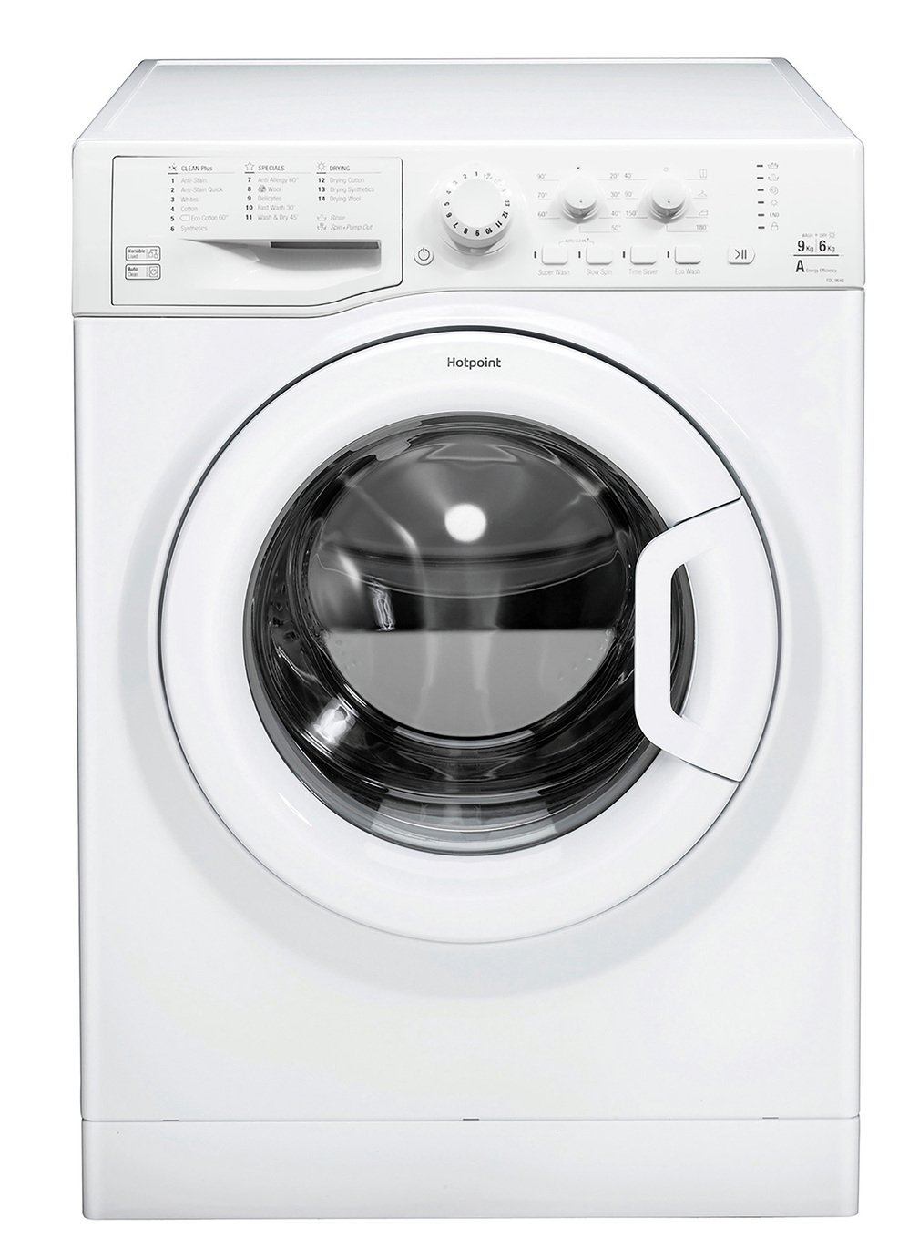 Hotpoint FDL9640PUK 9KG / 6KG 1400 Spin Washer Dryer - White
